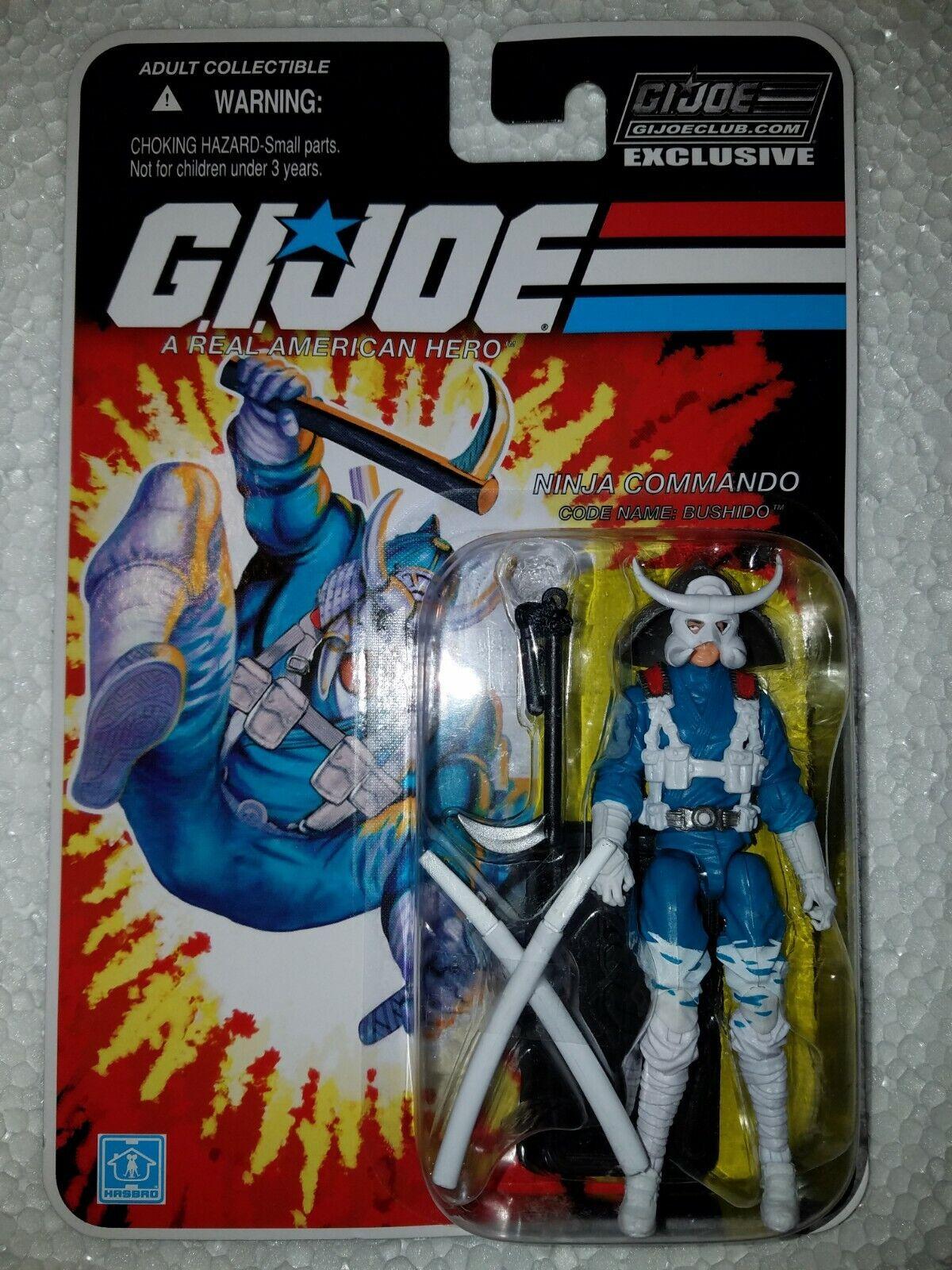 G.I. Joe exclusivo club FSS 8.0  Bushido-Ninja COMMANDO