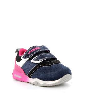 separation shoes 467b8 6d0f0 Dettagli su PRIMIGI SCARPE BAMBINA PRIMI PASSI CON LUCI 4461600 BLU BIANCO  DAL 20 AL 29 NEW