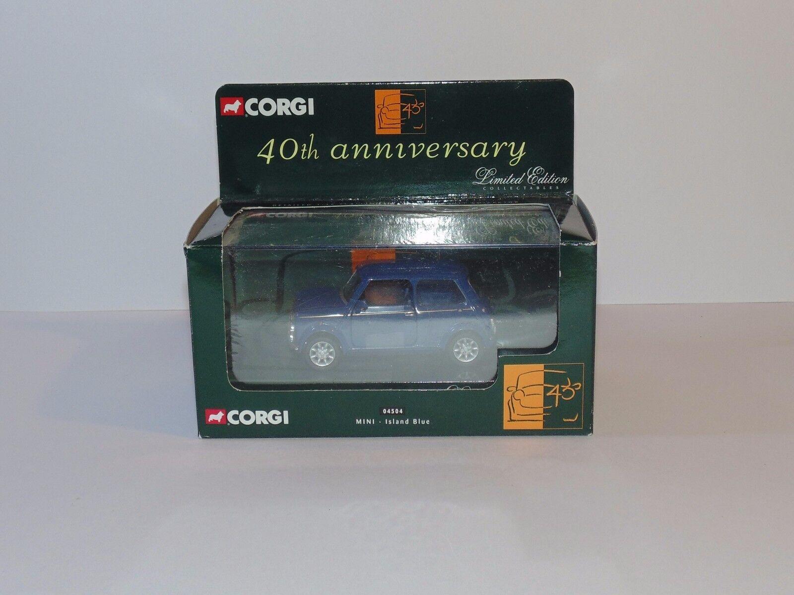 Diecast Corgi Classic Limited Edition Mini-Island bleu 40th Anniversaire