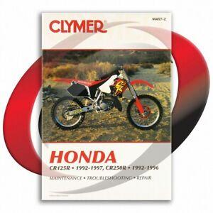 1992-1996-Honda-CR250R-Repair-Manual-Clymer-M457-2-Service-Shop-Garage
