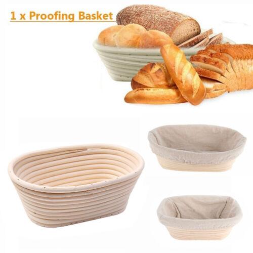 Oval Bread Proofing Proving Baskets Rattan Banneton Brotform Dough Tool Handmade