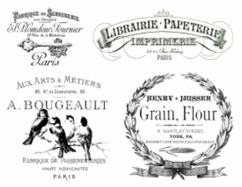 Vintage French Advertising Labels Furniture Transfers Waterslide Decals MIS613