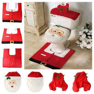 3 pièces / Set Père Noël siège de toilette Référence Décoration de ...