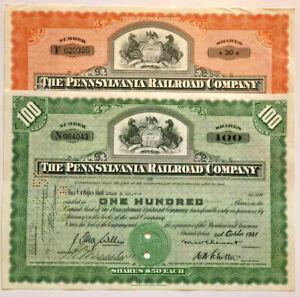 Railroad Gift Set > Pennsylvania Railroad Company stock certificates