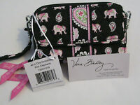 Vera Bradley Pink Elephants All In One Crossbody Wallet Hipster Wristlet