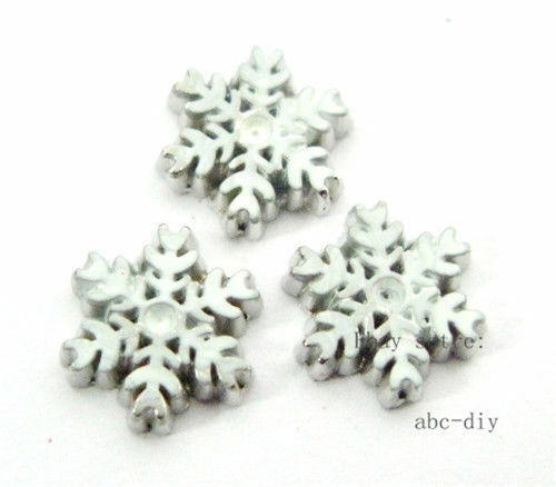 10pcs Snow flake Floating charms For Glass memory Locket Free shipping 328
