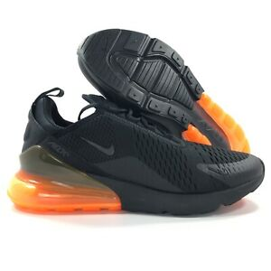 sports shoes 4d2cc b6853 Details about Nike Sportswear Air Max 270 Black Total Orange AH8050-008  Men's 10.5