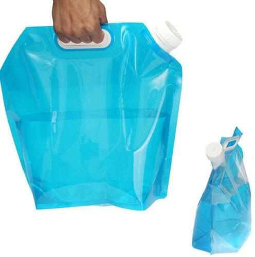 5L Outdoor Camping Collapsible Water Storage Container Carrier Bag Emergency QK
