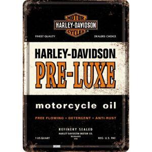 Nostalgic-art-Cartolina-Metallo-10x14cm-Harley-Davidson-Pre-luxe