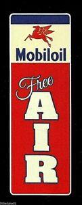 "AMPOL /""FREE AIR/"" PROMO VINYL STICKER DECAL PETROL OIL GAS SERVICE STATION GARAGE"