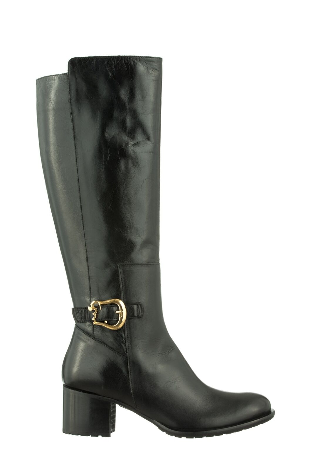 MORI MADE IN ITALY KNEE HEELS HEELS HEELS BOOTS STIEFEL STIVALI SHOES LEATHER BLACK NERO 40 73da96