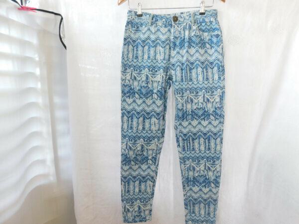 """""""desigual""""""""exotic Jeans""""damen Jeans Gr.40.blau-weiß Gemustert Un BoîTier En Plastique Est Compartimenté Pour Un Stockage En Toute SéCurité"""