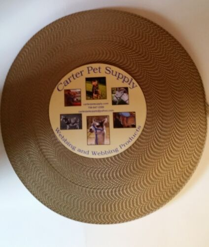Carter Pet Supply 1 Inch Gold Light Brown Heavy Nylon Webbing 5 Yards USA MADE