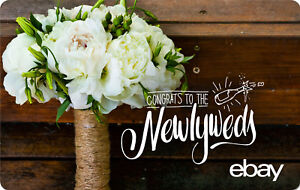 eBay Digital Gift card -Wedding Congrats Newlyweds $25 $50 $100 or $200 - Email