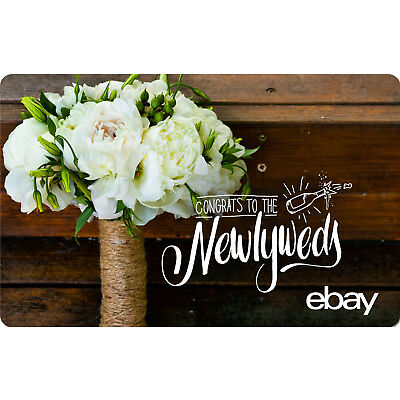 eBay eGift Card -Wedding Congrats to the Newlyweds $25 $50 $100 or $200 - Email