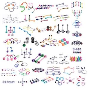 BodyJ4You-120-PCS-Body-Piercing-Lot-Belly-Ring-14G-16G-RANDOM-Mix-Jewelry