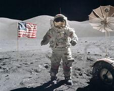 Gene Cernan Apollo 17 NASA Landing Last Man Walk on Moon 8 x 10 Photo Picture