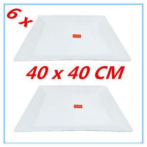 6PK-GLOSSY-WHITE-MELAMINE-SERVING-TRAY-SQUARE-PLATTER-CATERING-TRAYS-40X40CM-FD