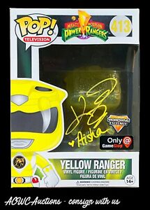 Funko POP - Power Rangers - Yellow Ranger - Signed by Karan Ashley - JSA
