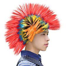 Rainbow Wig Mohawk Adult Punk Rock Hat Lesbian Gay Pride Costume Party Cap #1435