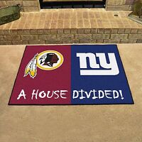 York Giants - Washington Redskins House Divided All Star Area Rug Mat