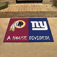 York Giants - Washington Redskins House Divided All Star Area Rug Mat