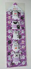 Sticker World Ghost Halloween Extra Puffy Stickers + Sticker Sheet Kawaii Bats