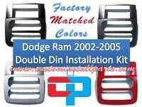 Dodge Ram 2002 2003 2005 Radio Stereo Install Double Din Navigation Dash Kit