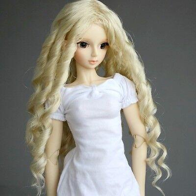 "7-8/"" hair 1//4 BJD Wig Mini Dollfie MSD Long Silver gray AOD DOD DK DZ LUTS"