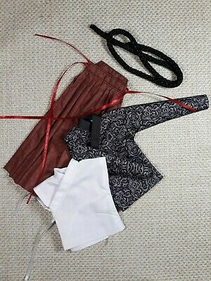 shirt #28,scale is 1//6 kimono belt and hakama for a 12 inch samurai figure