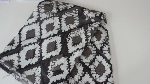Dekostoff Canvas Baumwolle  50 x 140 cm Batic in schwarz//grau Tie /& Dye effekt
