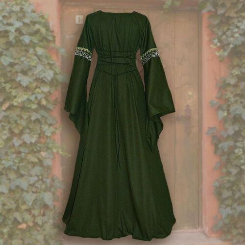 Neu Mittelalterliche Renaissance Frauen Spitze Langarm Kleid Kleid Kostüm