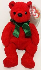 """GREAT GIFT TY Beanie Babies /""""2001 HOLIDAY TEDDY/"""" Christmas Bear MWMTs RETIRED"""