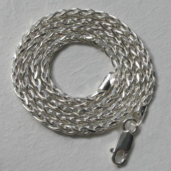 ITALIAN Solido argentoo Finissimo 3.5mm Diamond Cut Collana Catena Catena Catena di frumento da 16  a 30  9355d0
