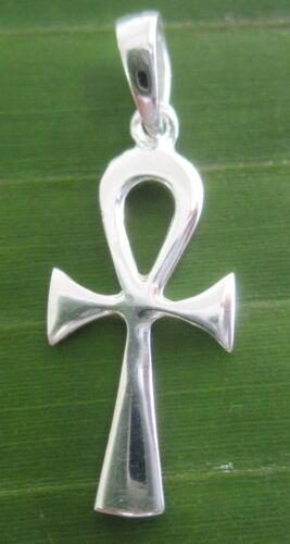 """100/% REAL 925 sterling silver  EGYPTIAN CROSS /""""BREATH OF LIFE/"""" pendant BOY GIRL"""