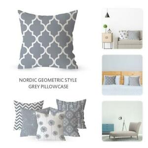 18-18Inch-Gray-Geometric-Decorative-Cushion-Cover-Polyester-Pillowcase-Sofa-Home