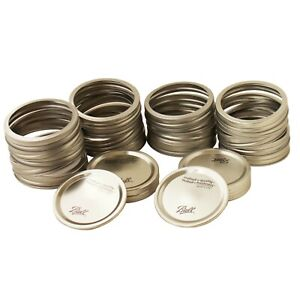 BALL-CANNING-JAR-LIDS-amp-RINGS-SET-OF-20-FITS-WIDE-MOUTH-MASON-PICKLING-JARS