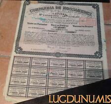 Companhia de Mossamedes – Paris Décembre 1922 Titre de 5 Actions