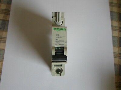 Schneider KQ10B110 10 Amp Type B KQ 1 Pole 10kA Loadcentre Circuit Breaker MCB