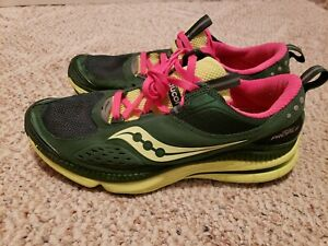 44616974a4d09 Saucony Grid Profile 15123-4 Womens Running Shoes 10 Green Pink ...