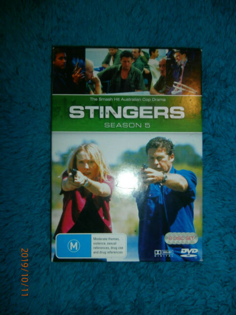Stingers : Season 5 (DVD, 2008, 6-Disc Set) Australian police drama TV series