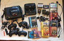 Sega Genesis Console Bundle - 32X, Sega CD, 4 controllers, 12 games and more!