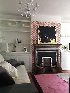 * Wowee * Magnifique Moderne Abstrait Feuille d'Or Toile Acrylique Peinture Art Pièce-afficher le titre d`origine