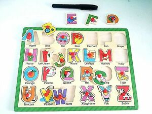 Wooden Board set LEARN / READ ALPHABET Letters set (26 pieces)