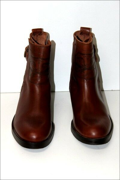 TERRANO Boots Leather Leather Leather Boots Brown Hazel T 41 TOP CONDITION ffd81e