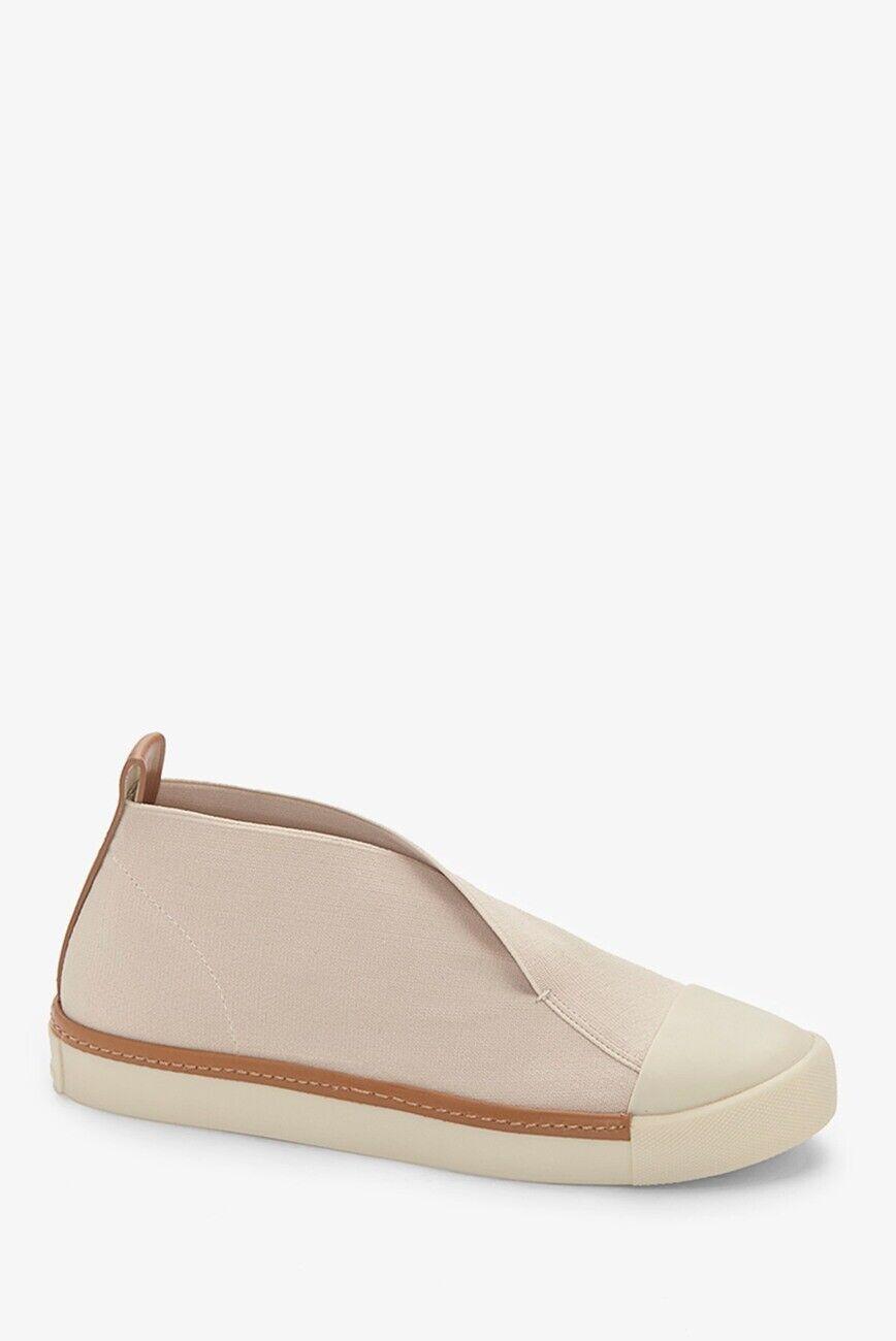 New Women's MERCEDES CASTILLO THANA beige natural Sneaker Canvas shoe Sz 8.5