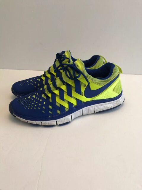 Auth Mens Nike Trainer 5.0 SNEAKERS Volt HYPER Blue White Sz 7
