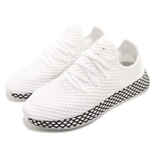 new style 2f3b9 c54f6 Image is loading adidas-Originals-Deerupt-Runner-White-Black-Men-Running-