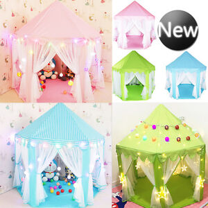 Image is loading Children-Kids-Play-Tent-Fairy-Princess-Girls-Boys-  sc 1 st  eBay & Children Kids Play Tent Fairy Princess Girls Boys Hexagon ...