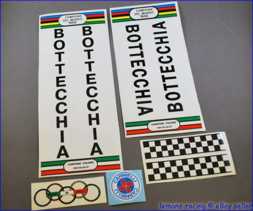 Rare Restoration Decals Stickers Kit for Early Bottecchia Vintage FREE Gift